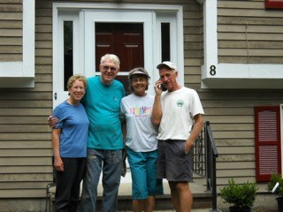 Painters extraordinare: Linda and Duane Wakefield and Genny and Alan Leathers.